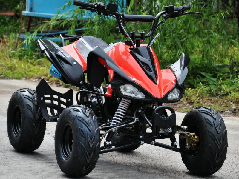 125cc 4 Stroke Quad Bike -(INTERROGATOR) RED w/ Reverse