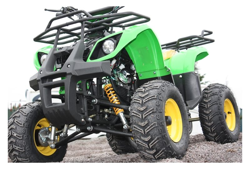 125cc Condor 4 stroke Quad Bike - Green - IN STOCK 1 LEFT WITH SILVER WHEELS