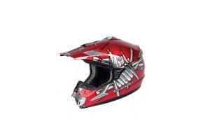 G Mac Slasher MX Helmet (Red) XL