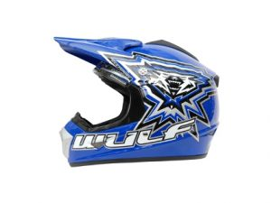 WulfSport CROSS FLITE JUNIOR HELMET - Blue