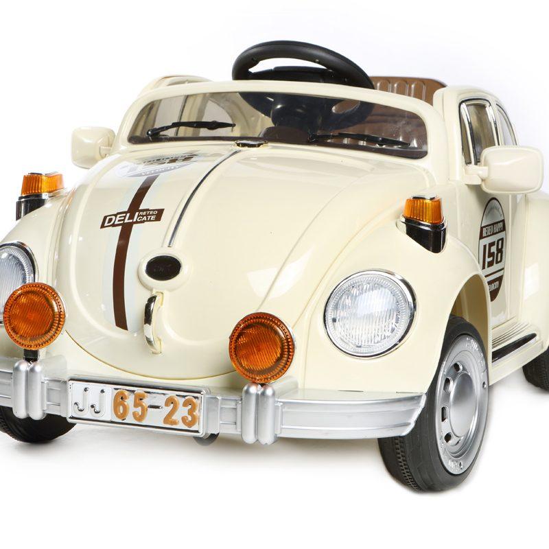 Cream Beetle - 12V Kids' Electric Ride On Car