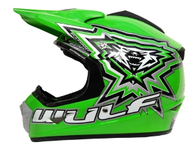 WulfSport CROSS FLITE JUNIOR HELMET - Green