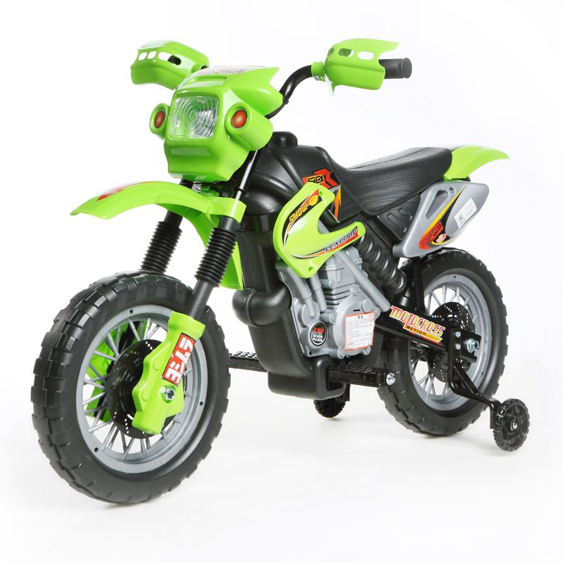 Green Mini Motocross - 6V Kids' Electric Ride On Bike