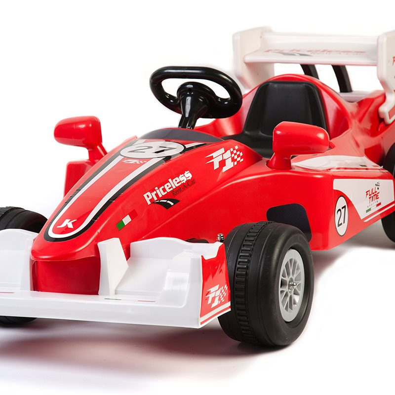 Battery Powered - 6V Kids Red Racing Car Ride On