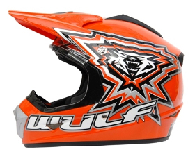 WulfSport CROSS FLITE JUNIOR HELMET - Orange