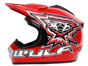 WulfSport CROSS FLITE JUNIOR HELMET - Red