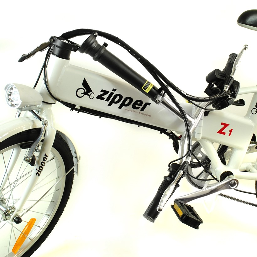 "Z1 7-Speed Compact Folding Electric Bike 20"" - Titanium White"