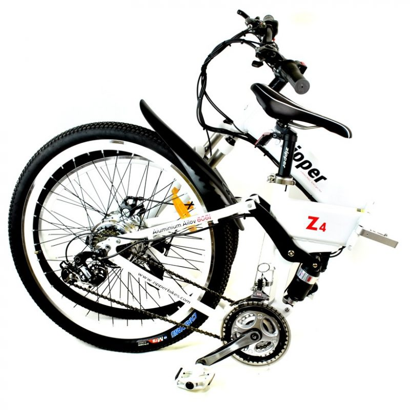 "Z4 21-Speed Folding Electric Mountain Bike 26"" - White"