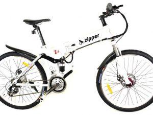 "Z4 21-Speed Folding Electric Mountain Bike 26"" - White"